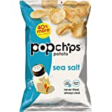 Popchips Potato Chips, Sea Salt Potato Chips, 12 Count (5 oz Bags), Gluten Free Potato Chips, Low Fat, No Artificial Flavoring, Kosher