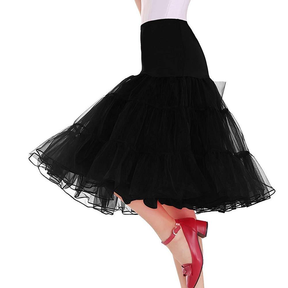 protección post-venta Disfraz De Falda De Medio Deslizamiento De Baile De Tutú Tutú Tutú De Baile De Crinolinas Burbuja De Las Mujeres De 1950,negro,XXXXXL  nuevo listado