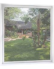 MYCARBON Mosquitera Ventana de 2 unidades 150 * 180 Negro Mosquitera para ventanas Mosquiteros Ventana Mosquiteras de Ventanas (Blanco)