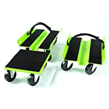 KASTFORCE KF2012 Snowmobile Dolly Assembled with Rubber Pad Protection Heavy Duty Straps