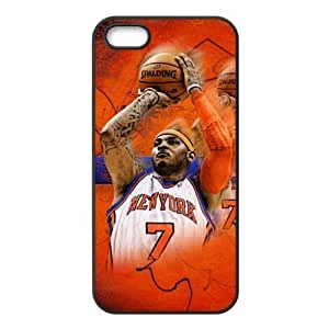 Cellphone Accessories iPhone 5/5s TPU Case with New York Knicks Carmelo Anthony Image Background Design-by Allthingsbasketball