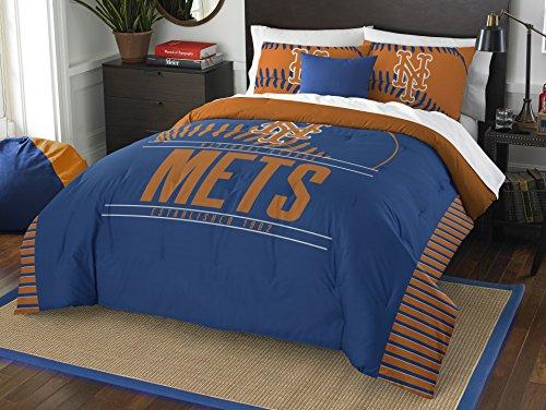 MLB New York Mets Grandslam Full/Queen Comforter and 2 Sham Set - New York Mets Fabric