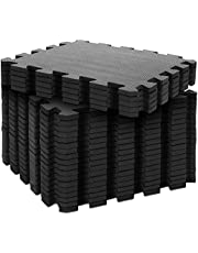 Body & Mind® Vloer bescherming Mat Beschermende Mat Set Onderlegmat voor fitness apparatuur; Fitness Mat vloer bescherming puzzel Mat Gym Mat voor sport encfitness ruimte Gym vloer Mat