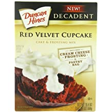 Duncan Hines Decadent Cupcake Mix, Red Velvet, 19.4 Ounce (Pack of 8)