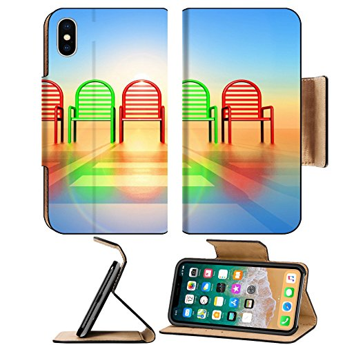 Liili Premium Apple iPhone X Flip Pu Leather Wallet Case range of colored chairs in 3 d generated by computer 28597749
