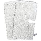 Washable Replacement Cleaning Mop Pads for Shark Steam Mop Pocket Microfiber Pads for S3500 series, S3601 and S3901 (2 Packs, White)