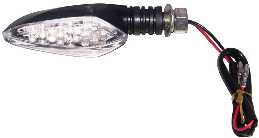 TopZone TSU-SQ1BK Turn Signal Universal Black,1 Pack