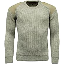 Mens Game Heavy Knit 100% British Wool Country Shooting Hunting Jumper Sweater