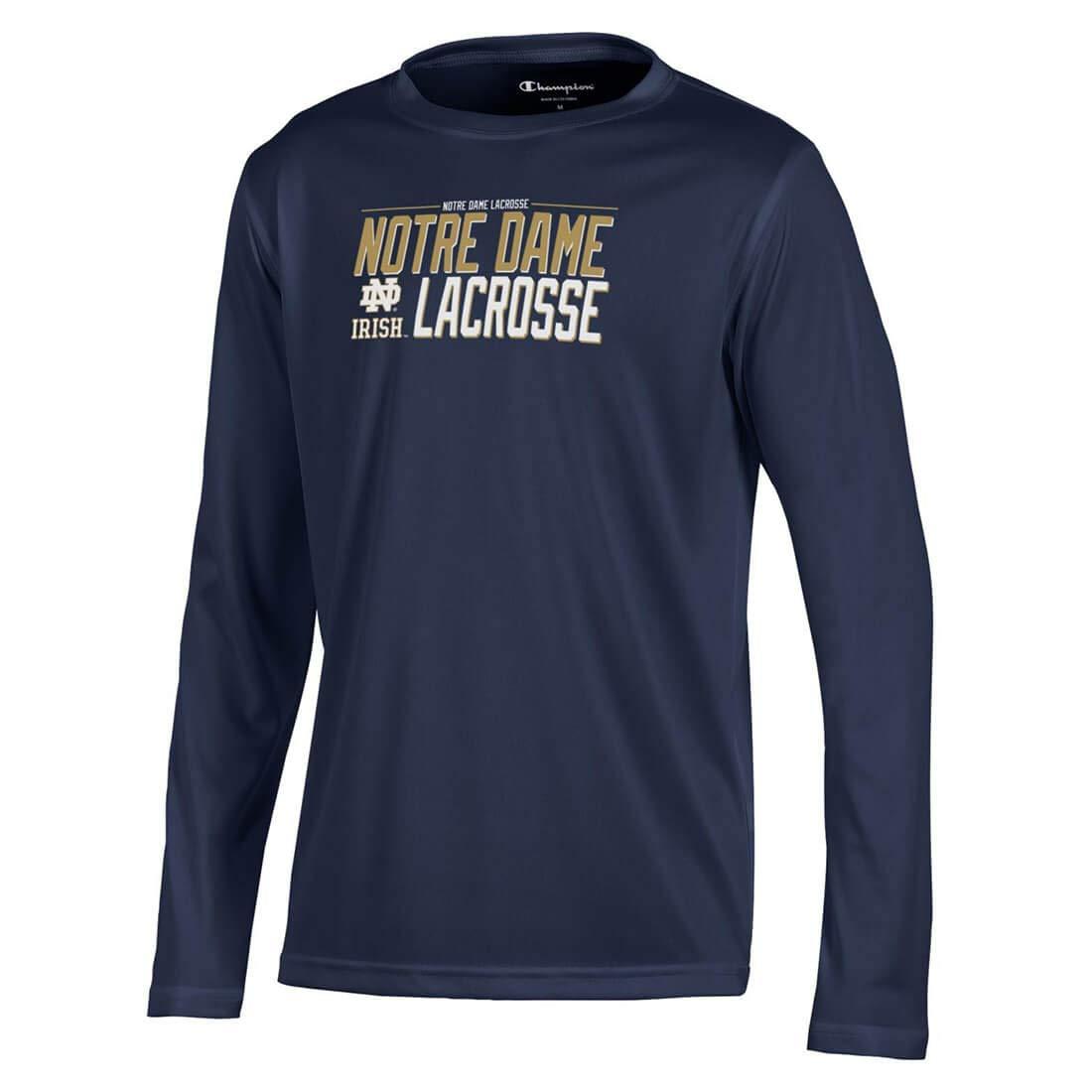 Notre Dame Fighting Irish Lacrosse Long Sleeve Lacrosse Unlimited ...