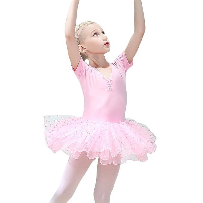 Ketamyy Niñas Vestido de Ballet Ropa de Danza Ballet Tutú de Ballet Elástico Tutú de Ballet