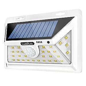 Solar Lights Outdoor - Ultra-Bright Outside Lights (34 LEDs) - Wide Angle Outdoor Light - Motion Sensor Light for Gardens Pathways Yard Landscape or Porch - Decorative Solar Light