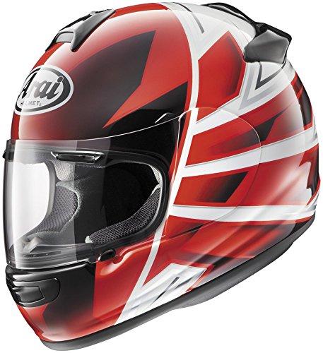 [Arai Helmets Vector 2 Hawk Helmet, Distinct Name: Hawk Red, Gender: Mens/Unisex, Helmet Category: Street, Helmet Type: Full-face Helmets, Primary Color: Red, Size: Lg 814423] (Arai Vector Full Face Helmet)