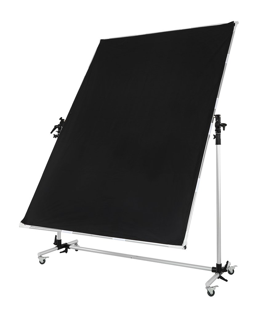 Falcon Eyes Pro Studio Solutions 150cm x 200cm (59in x 78.7in) Sun Scrim - Collapsible Frame Diffusion & Silver/Black Reflector Kit with Pulley can be moved Handle by OPENCLOUD (Image #7)