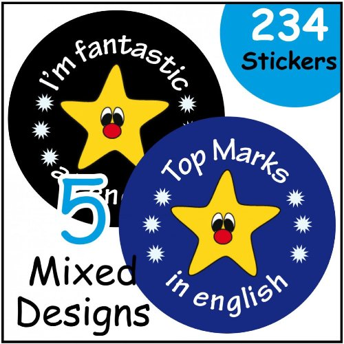 English themed reward stickers