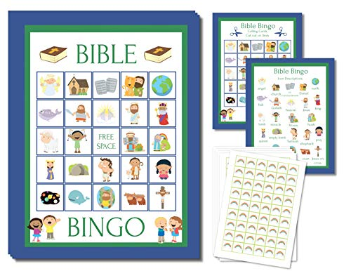(Bible Bingo Party Game for All Ages Great For Kids and Christian Families for 24 Players)
