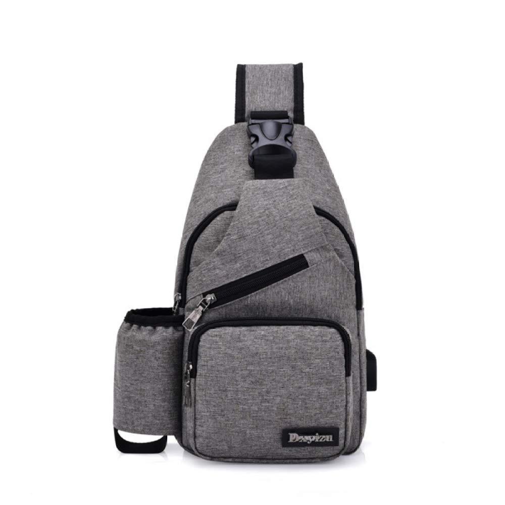 DSHWB Mountaineering Rucksack for Chest Bag Men and Women Shoulder Messenger Bag Korean Version of The Tide Cup Bag Casual Small Backpack USB Charging Smart Bag