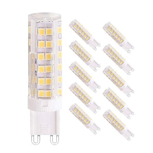 7W G9 bombillas LED, Equivalente a 65W Lampara Halogenos, 76 SMD ...