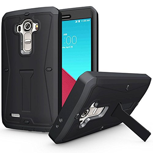 ECOZ Heavy Duty [SHIELDX-PRO] Hybrid Full-body Protective Case with Front Cover and Built-in Screen Protector / Impact Resistant Bumpers Cover for LG G4 - Ezgear Case Protective