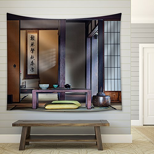 Traditional Japanese Tea Room Fabric Wall Tapestry