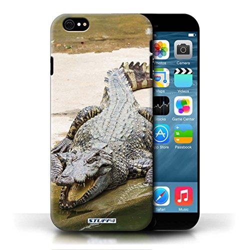 Kobalt Coccodrillo stampato Custodia Cover per Apple iPhone 6/6S cellulari telefoni / Collezione Animali selvatici