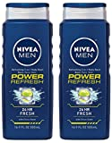 Nivea Mens Power Refresh Body Wash 16.9z (Pack of 2) For Sale