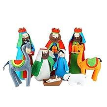 """9-Piece Soft and Plush Religious Christmas Nativity Set - 14"""""""