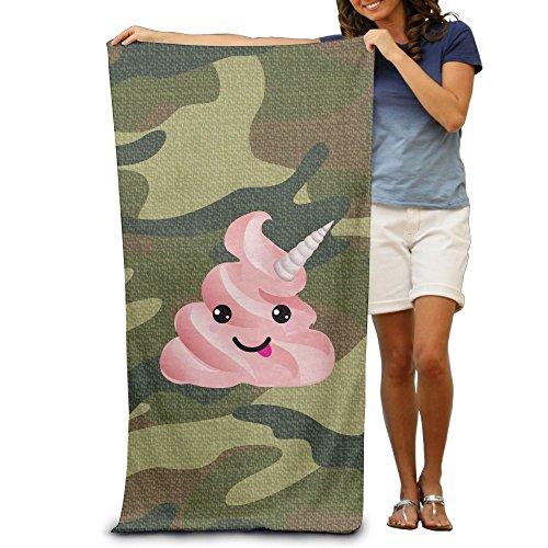 Cute Pink Poop Emoji Unicorn Bath Towels Soft Machine Washab