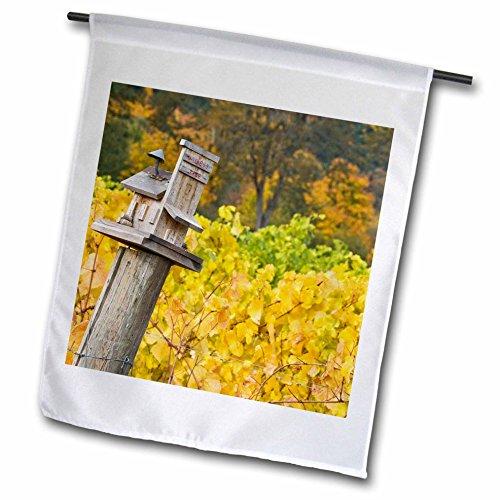 3dRose fl_93664_1 OR/Willamette Valley Witness Tree Winery Vineyard US38 BJA0637 Jaynes Gallery Garden Flag, 12 by 18-Inch