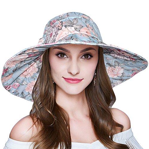 AOMUU Women Summer Sun Hat Outdoor Foldable Wid...