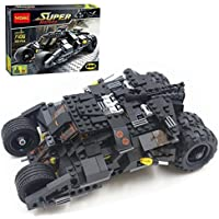 Happy GiftMart Super Heroes Tumbler Batman Batmobile Building Blocks 325 Pcs Lego Compatible