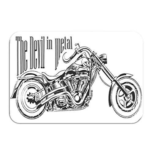 qilifz Outside Shoe Non-Slip Color Dot Doormat Motorbike Graphic Design Signature Mats Entrance Rugs Carpet 16 24 inch
