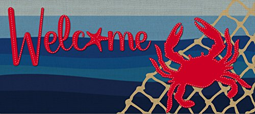 Evergreen-Flag-Coastal-Crab-Decorative-Mat-Insert-10-x-22-inches