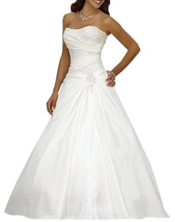 Erosebridal Neu A Linie Lieferbar Hochzeitskleid Schulterfreie ...