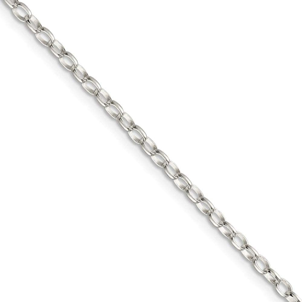Sterling Silver 1.1mm Beveled Oval Cable Chain