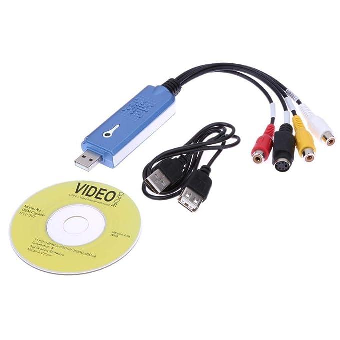 Conversor USB 2.0 de Audio y vídeo, Adaptador de Grabador de ...