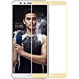 Roxel 3D Colourfull Premium 2.5D Perfect Screen Fit Curved Tough Tempered Glass for Honor 7X (Gold)