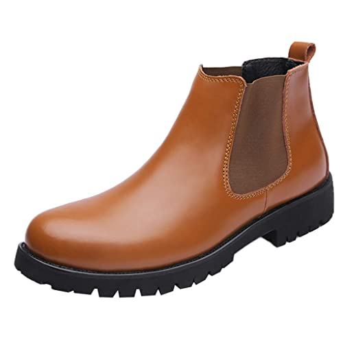 4768c44ac S&H-NEEDRA Chaussures Hommes, Bottes Courtes en Cuir AntidéRapantes ...
