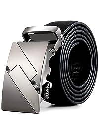 Susenstone Men Leather Automatic Buckle Belts Fashion Waist Strap Belt Waistband