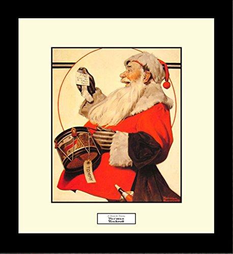 norman rockwell santa poster