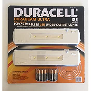 Attirant Duracell LED Under Cabinet Light, 2 Pack
