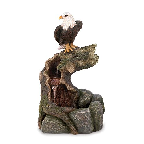 New Majestic Bald Eagle Garden Water Fountain Country Wester Lawn Decoration by Fountains