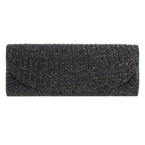Sparking Evening Glitter Clutch Damara Black Bag Women's Long pxC4nUq5