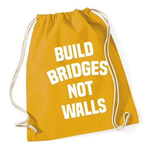 46cm Build Kid Not Cotton School x Mustard Gym HippoWarehouse 12 37cm Bridges Bag Walls litres Drawstring Sack UpwBSqO