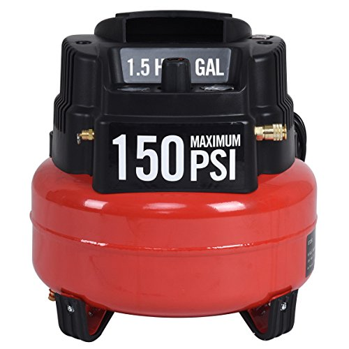 Cypressshop Portable Air Compressor 6 Gallon Oil Free 150PSI Motor 1.5HP Air Tools Workshop Equipments Blowers Home and Industrial Uses
