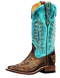 Boulet Western Boots Womens Leather Square Hillbilly Golden 4307