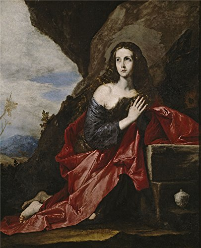 Polyster Canvas ,the Vivid Art Decorative Prints On Canvas Of Oil Painting 'Ribera Jose De La Magdalena O Santa Tais 1641 ', 30 X 37 Inch / 76 X 94 Cm Is Best For Foyer Decoration And Home Gallery Art And Gifts (80s Workout Costumes Diy)