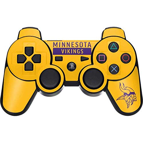 Skinit Minnesota Vikings Yellow Performance Series PS3 Dual Shock Wireless Controller Skin - Officially Licensed NFL Gaming Decal - Ultra Thin, Lightweight Vinyl Decal Protection (Controller Minnesota Wireless Vikings)