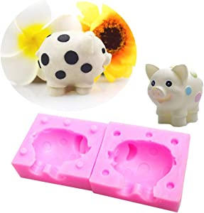 WYD 3D Stereo Pig Mold Handmade Fondant Jelly Ice Carving Soap Baking Silicone Molds