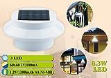 iSunMoon 6 Pack Gutter Solar Lights Outdoor LED