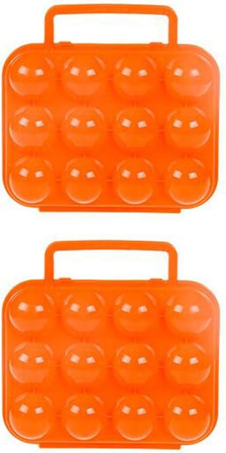 port/átil LAAT 2PCS Bandeja de Huevos Bandeja Caja Huevos de Fiesta de Bandeja a Prueba de Golpes Caja huevera de pl/ástico A Prueba de Golpes al Aire Libre Navidad Size M Azul 20x19cm